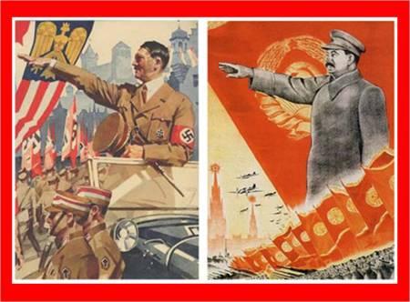 Hitler and stalin Propaganda