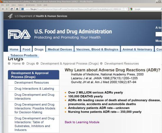 millions of deaths due to prescription drugs