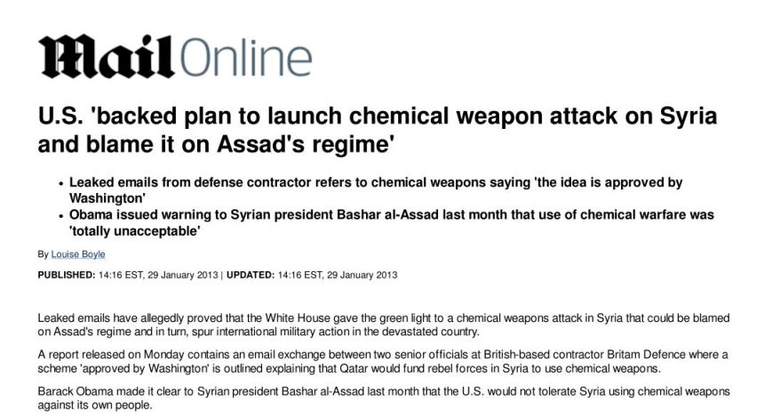 Louise Boyle Daily Mail Syria Chemical Attack