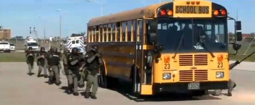 SWAT TEAM SCHOOL BUS