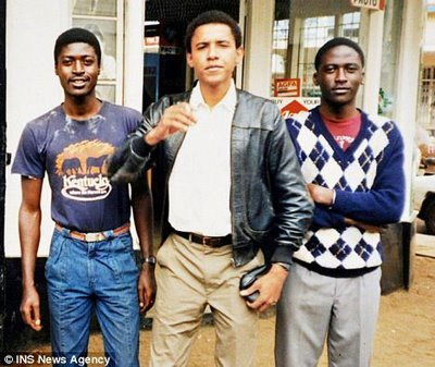 Obama's pedophile brother in t-shirt – his name is samson obama, he was barred from entering the U.K.
