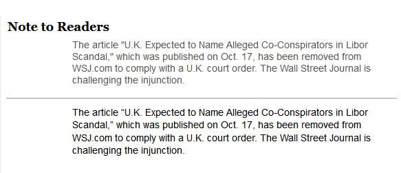 WSJ Injunction