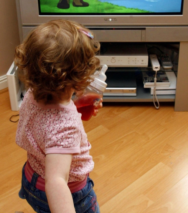 Children are becoming increasingly anxious due to too much time in front of TV and computer screens, according to a new report (Picture: Peter Byrne/PA Wire)