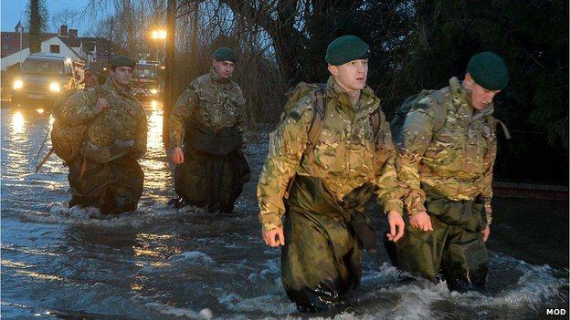 TROOPS UK FLOODS